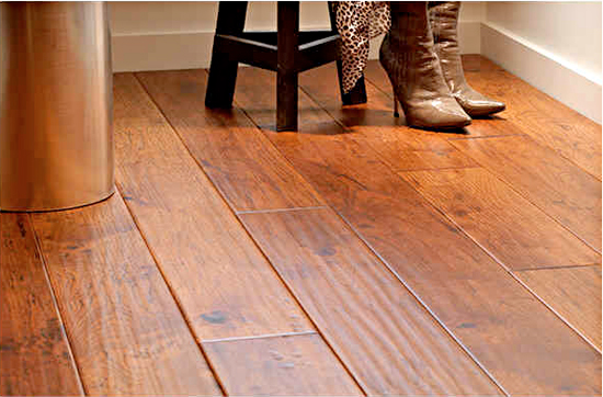 Hand-Scaped Birch Copper City Wood Flooring