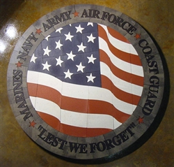 SM American Flag Armed forces