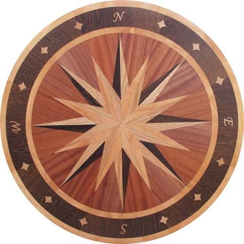 Ipwm 20 b2 longport hardwood medallion for Wood floor medallions