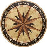 IPWM-605-A1 (Word Star)  | Hardwood Medallion