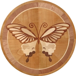 IPWM-621 (Butterfly)  | Hardwood Medallion