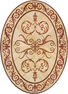 MD-116-D4-1 (Venetian Oval)  |  Hardwood Medallion