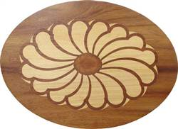 PL-507A-S (Flower Oval)  | Hardwood Panel Inlay