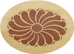PL-507F-S (Flower Oval)  | Hardwood Panel Inlay