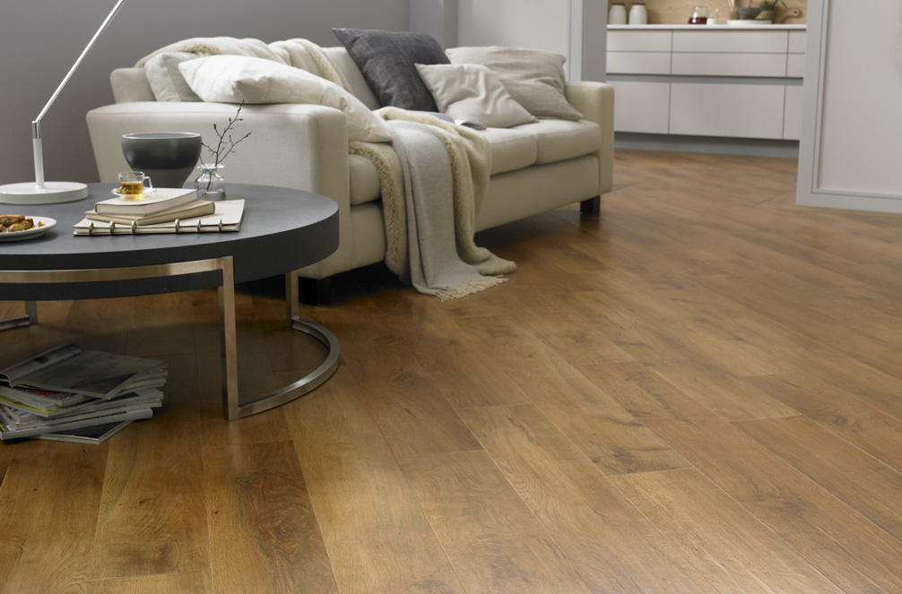 Wide Plank Charcoal Oak Wood Flooring