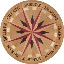 IPWM-605N-WS (Word Star N) | Hardwood Medallion 24""