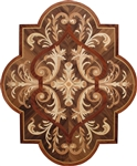 MD-109-A16 (Cartouche)  | Hardwood Medallion