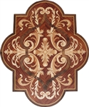 MD-109-B16 (Cartouche)  | Hardwood Medallion