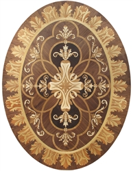 MD-114-A1-S (Flower Bell Oval)  |  Hardwood Medallion