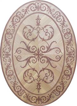 MD-116-D4-S (Venetian Oval)  |  Hardwood Medallion