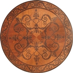 MD-111-C3-S (Flower Bell)  | Hardwood Medallion