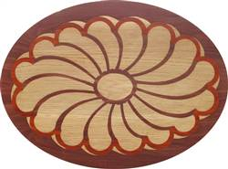 PL-507B-S (Flower Oval)  | Hardwood Panel Inlay