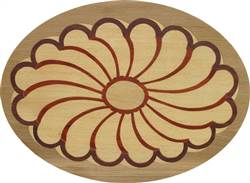 PL-507E-S (Flower Oval)  | Hardwood Panel Inlay